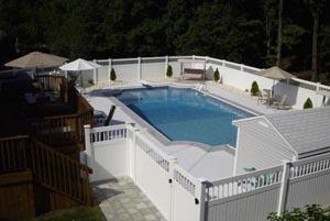 Fenced In Geometric Inground Pool