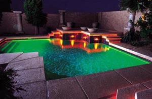 Lighted Geometric Pool