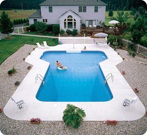 Backyard Geometric Pool Shape