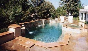 Tile Edge Geometric Pool Design