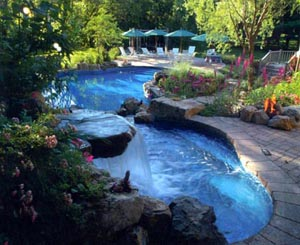 Swimming Pool with Landscaping