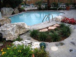 Concrete Deck Inground Pool