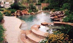 Inground Pool with Custom Spa