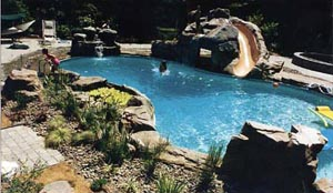 Pool With Built In Slide