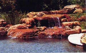Natural Setting Pool with Waterfall