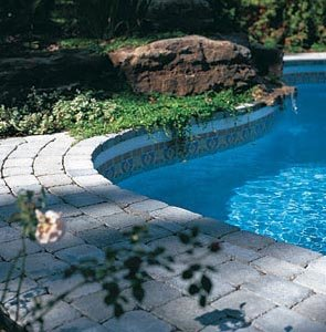 Stone Paver Pool Decking
