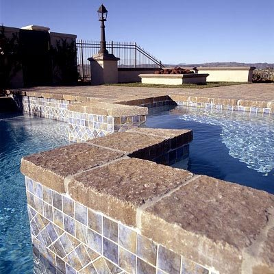 Stone Wall Inside Pool